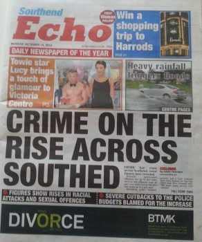 Alarming rise in Southend crime